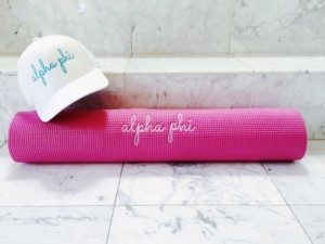 Alpha phi The Strong Movement Strong Girl Greek Sorority Official Hat Yoga Mat