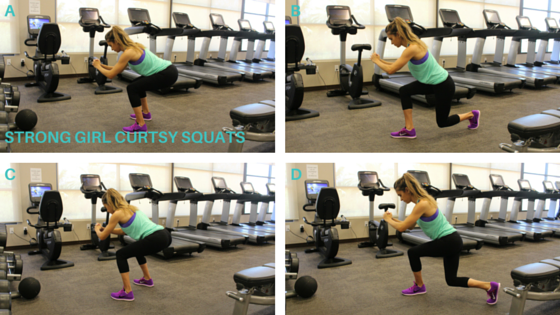 Strong Girl Curtsy Squat The Strong Movement