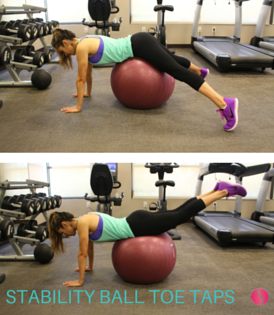 stability ball toe taps The Strong Movement