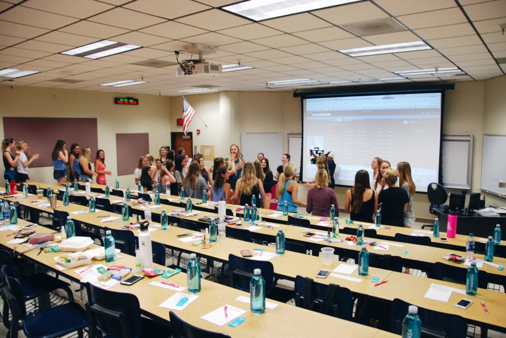 the strong movement strong girl workshop sorority programming panhellenic arizona3