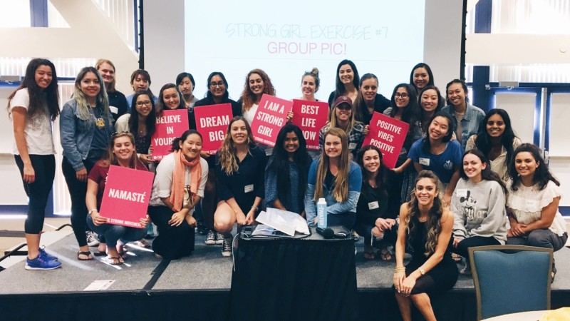 UCI Strong Girl Workshop Strong Movement Panhellenic Sorority Programming Sistershood Campus Clubs Irvine -min