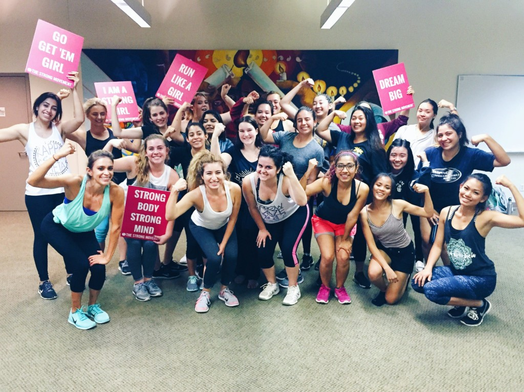 UCI Strong Girl Workshop Strong Movement Panhellenic Sorority Programming Sistershood Irvine Steps strong confident happy booty abs workout-min