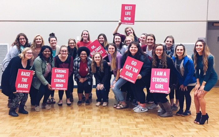 sorority panhellenic sisterhood programming strong girl workshop workout strong movement drake university des moines iowa-min