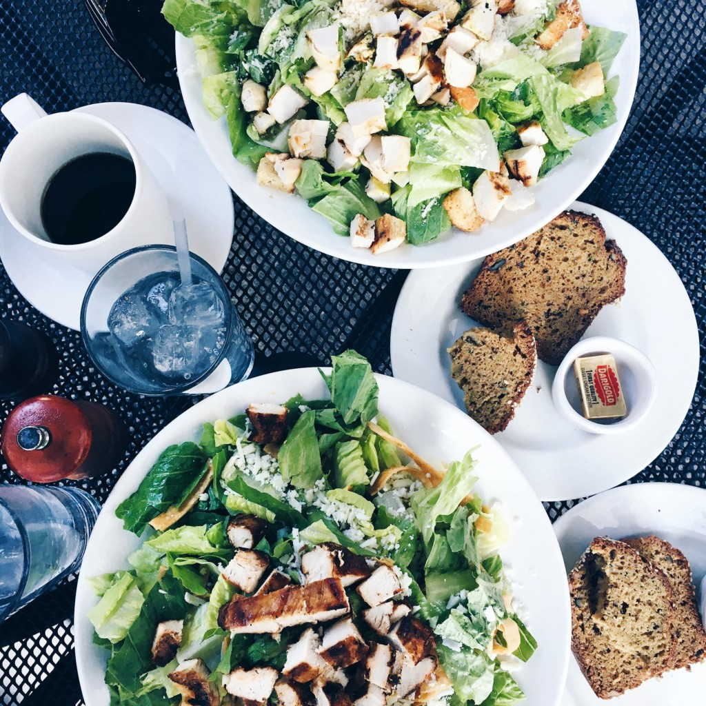 strong girl guide to spin class post workout meal chicken salad coffee catch up sesh date-min