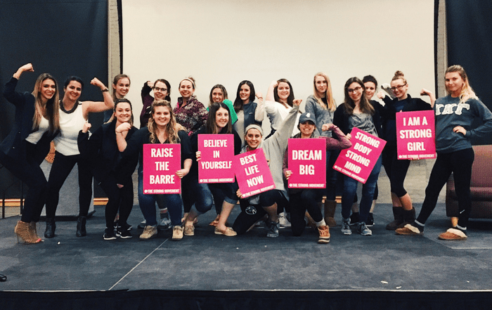 Illinois Wesleyan University The Strong Movement Strong Girls on Campus Chapter Programming Sorority Sisterhood Events Workshop Women Steps Stronger More Confident Happier Panhellenic-min