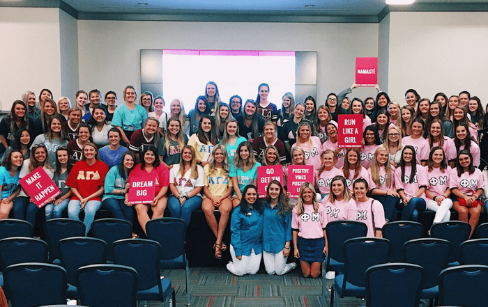 university of west georgia The Strong Movement Strong Girls on Campus Chapter Programming Sorority Sisterhood Events Workshop Women Steps Stronger More Confident Happier Panhellenic-min